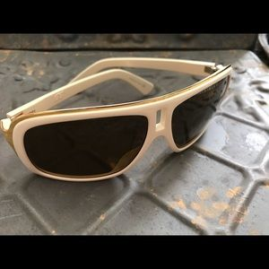 "Ivory dragon ""GG"" sunglasses with bronze lenses."